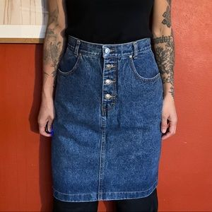 Vintage Lawman high waisted Denim Skirt